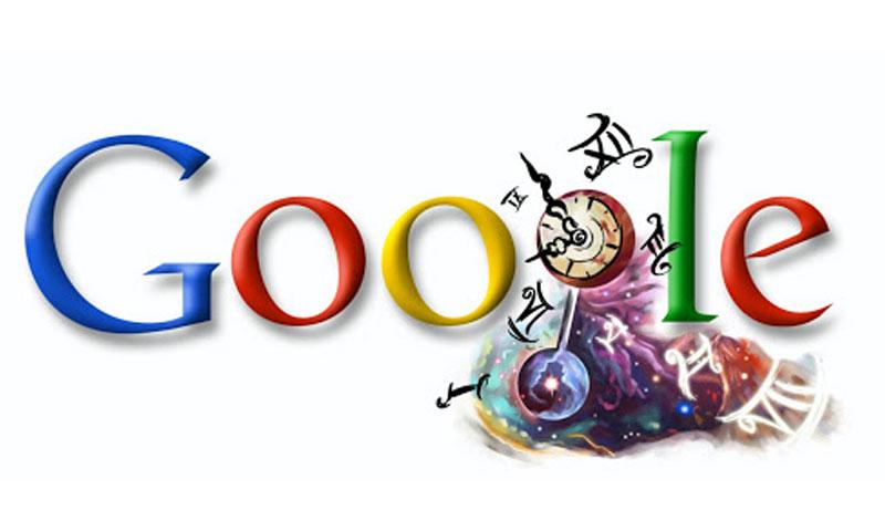 """الشعار الذي احتفلت """"جوجل"""" من خلاله بكريستيان هيغنز (Google)"""