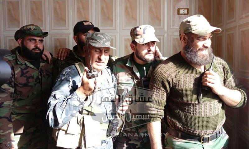 عناصر من قوات النمر على جبهات الغوطة الشرقية - شباط 2018 (فيس بوك)