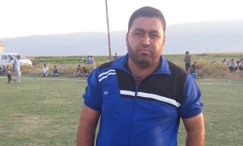"""رئيس اتحاد كرة القدم """"الحر"""" في إدلب نادر الأطرش - 2017 (الهيئة السورية للرياضة)"""
