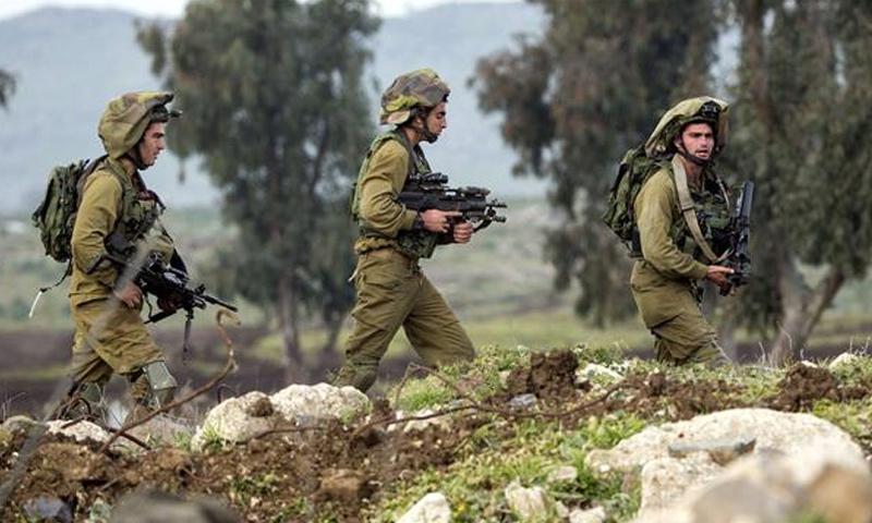 جنود إسرائيليين في منطقة الجولان المحتل - تشرين الأول 2016 (انترنت)