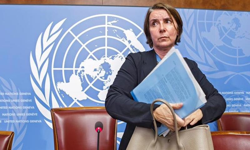 """رئيسة """"الآلية الدولية المستقلة"""" كاترين مارشي أوهيل (الأوروبية)"""