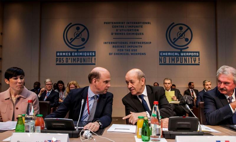 اجتماع باريس لبحث مسألة الكيماوي- 18 أيار 2018 (VAO News)