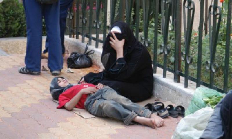 متسولون في سوريا (الوطن)