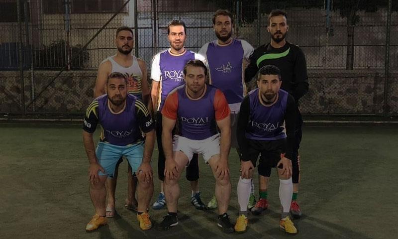 لاعب الاتحاد السابق إبراهيم عزيزة في تمرين بغازي عنتاب التركي قبل وفاته - 25 نيسان 2018 (حساب عزيزية في فيس بوك)