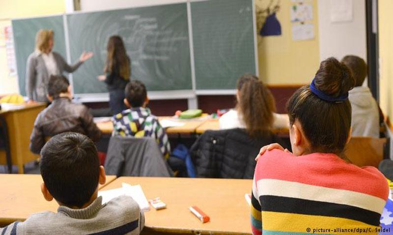 طلاب لاجئون في ألمانيا(DPA)