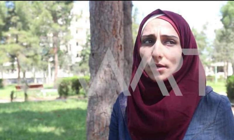 الطالبة في معهد الإعلام فاطمة إدريس - (وكالة سمارت)