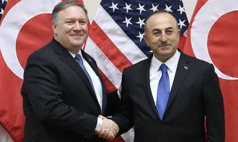 وزيري الخارجية التركي والأمريكي )NEWS TURK)