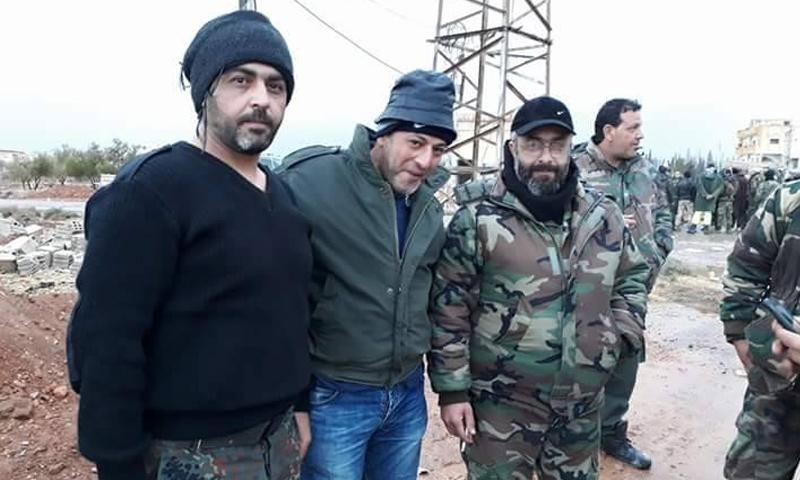 العميد في قوات الأسد غياث دلا خلال مشاركته في معارك ريف دمشق - 2017 (فيس بوك)