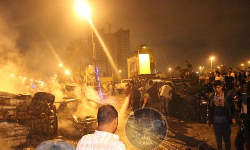موقع الانفجار في مدينة بنغازي الليبية- 24 أيار 2018 (وال)