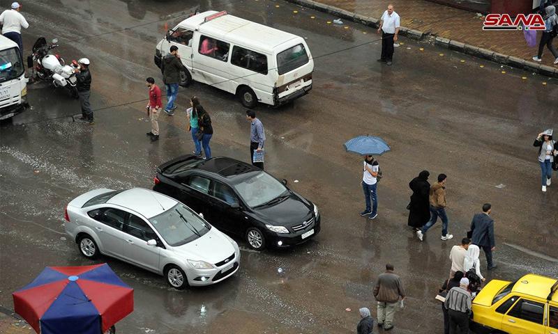 هطول أمطار في دمشق - 7 أيار 2018 (سانا)