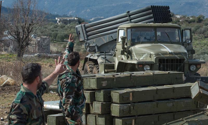 عناصر من قوات الأسد في محيط محافظة إدلب - تشرين الأول 2016 (ريا نوفوستي)