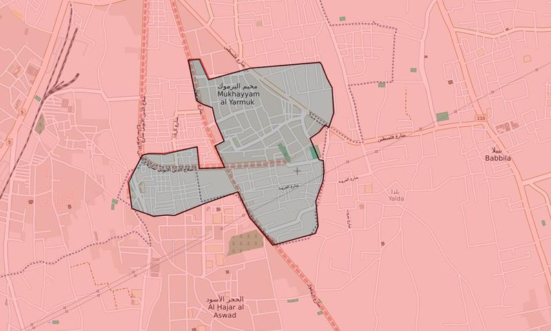 خريطة السيطرة جنوبي دمشق - 8 من أيار 2018 (LM)