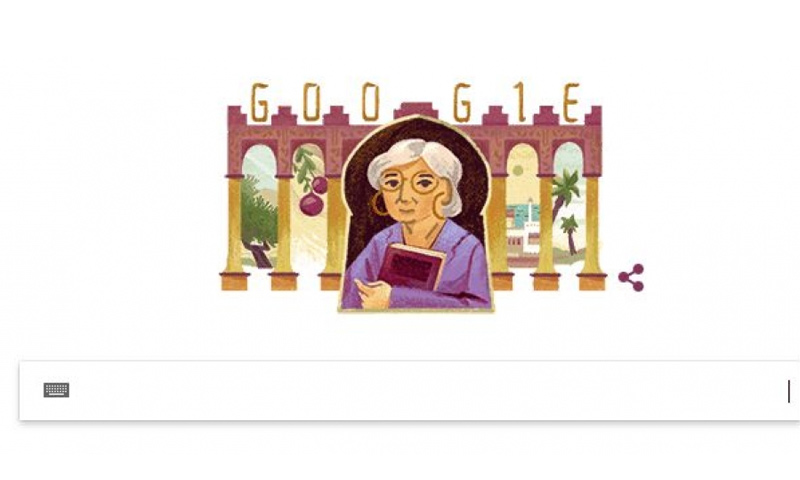 """""""جوجل"""" يحتفل بذكرى مولد الأديبة المصرية رضوى عاشور- 26 أيار 2018 (جوجل)"""
