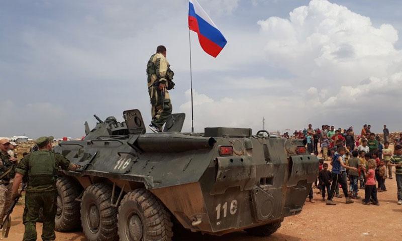 قوات روسية في ريف حلب شمالي سوريا )سبوتنيك)