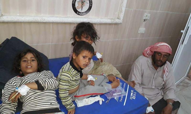 أطفال أصيبوا بتسمم بسبب وجبات طعام فاسدة في ريف إدلب - 20 من أيار 2018 (فيس بوك)