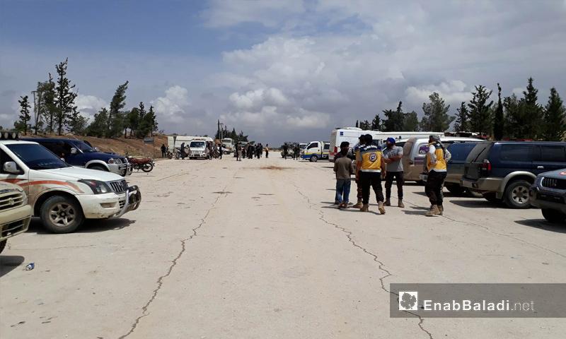 فرق طبية تستعد لاستقبال مهجري ريف حمص وجنوبي دمشق في ريف حلب - 8 من أيار 2018 (عنب بلدي)