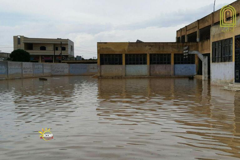سيول في ريف حلب الجنوبي (طقس سوريا)