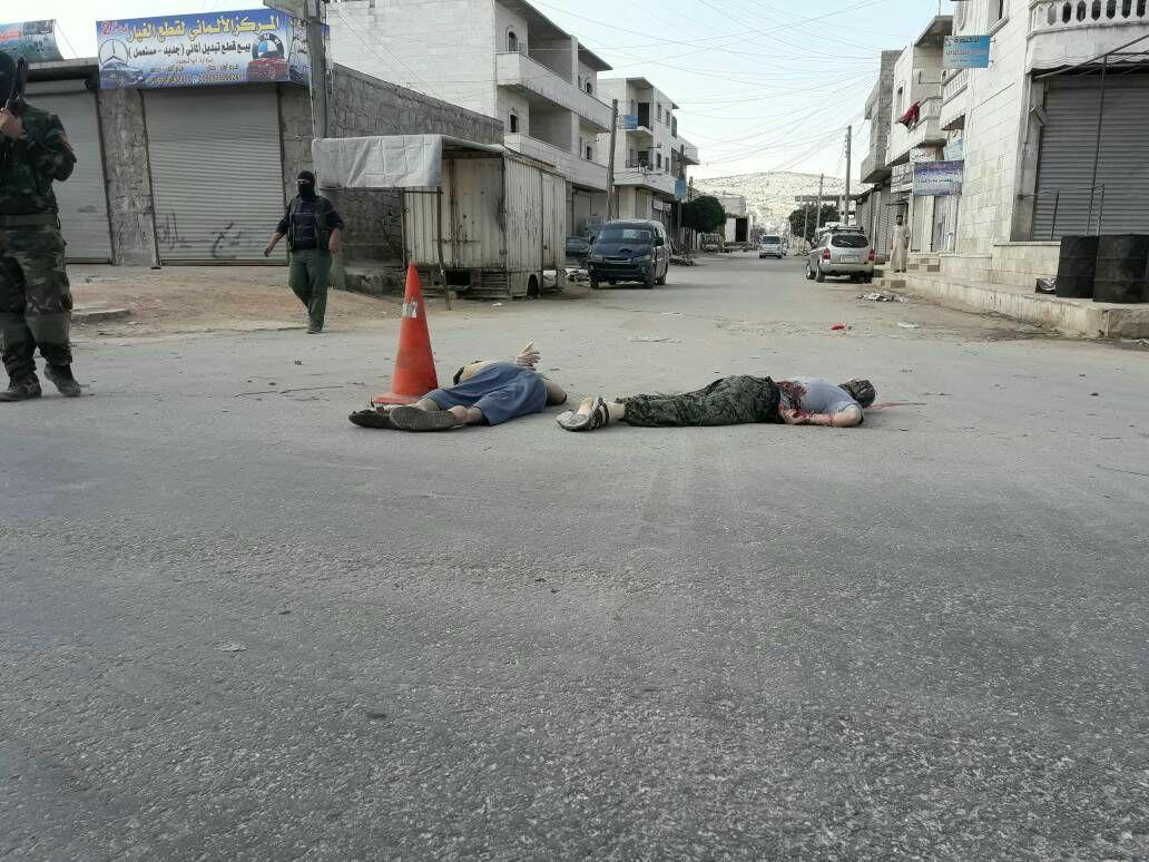 تنفيذ الاعدام بحق عنصرين في مدينة الدانا (شبكة خان شيخون)