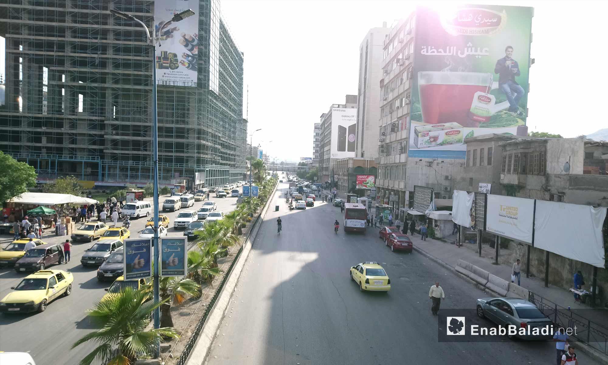 شارع الثورة في العاصمة دمشق - 6 من حزيران 2018 (عنب بلدي)