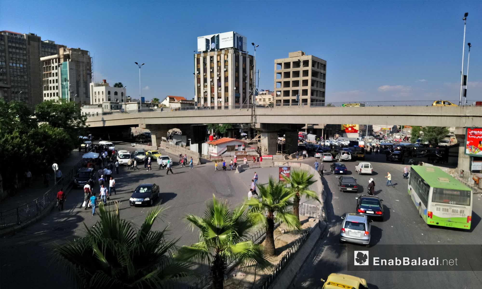 جسر فيكتوريا المحاذي لشارع الثورة في دمشق - 6 من حزيران 2018 (عنب بلدي)