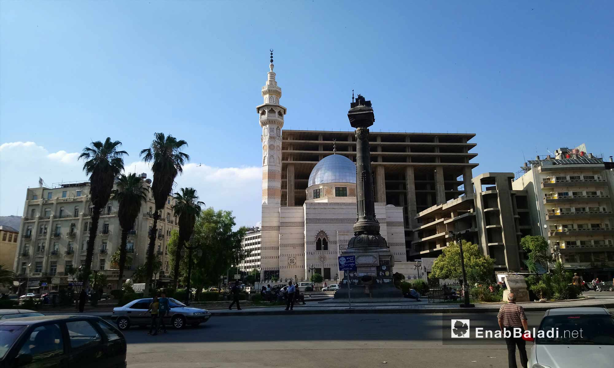 ساحة المرجة وسط العاصمة دمشق - 6 من حزيران 2018 (عنب بلدي)