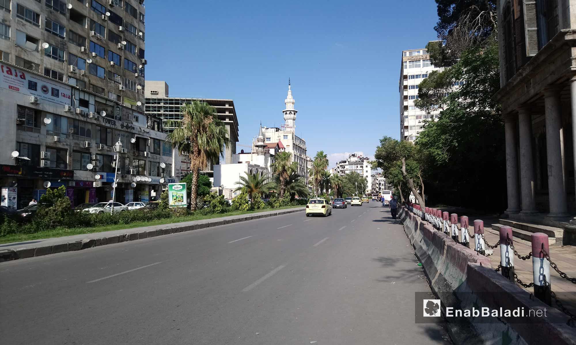 شارع النصر في وسط العاصمة دمشق - 6 من حزيران 2018 (عنب بلدي)