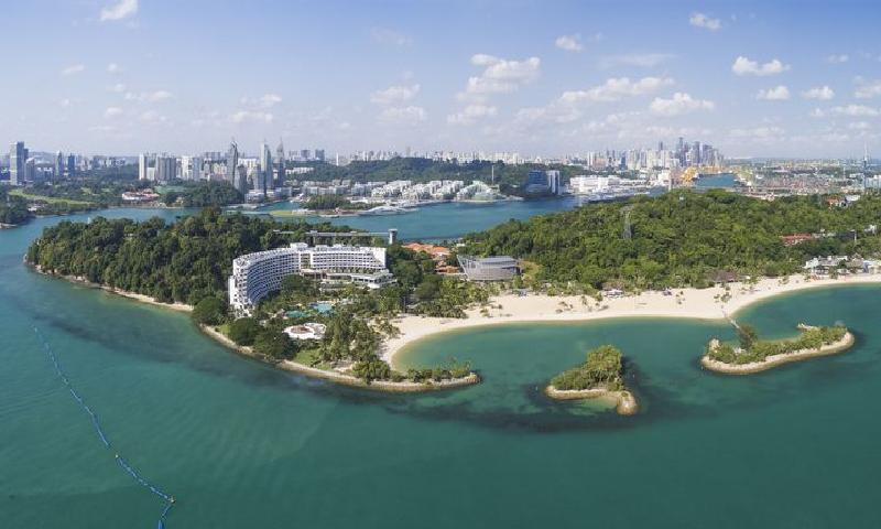 جزيرة سنتوسا في سينغافورة (إنترنت)