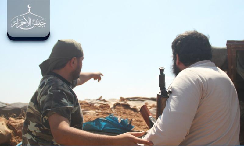 القيادي أبو اسماعيل على جبهات ريف جلب الجنوبي -(جيش الأحرار)