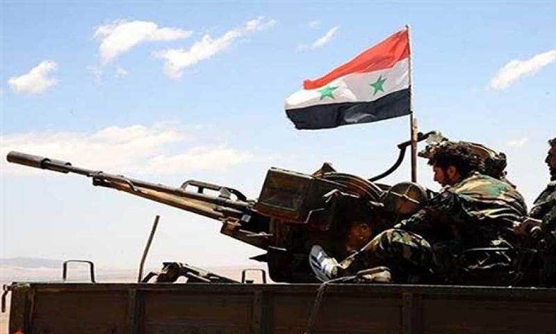 عناصر من قوات الأسد خلال معارك البادية السورية - تشرين الثاني 2017 (انترنت)