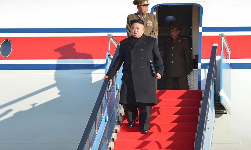 رئيس كوريا الشمالية يصل الى سنغافورة 10 حزيران 2018 (Euronews)