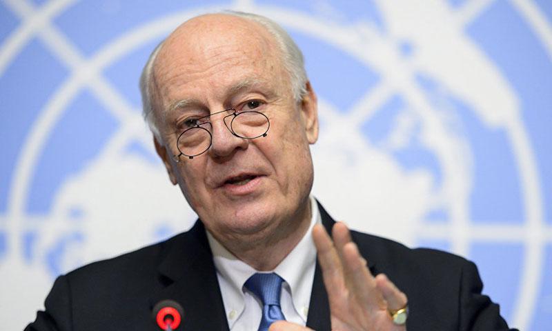 المبعوث الأممي الى سوريا ستيفان دميستورا (تي آر تي التركية)