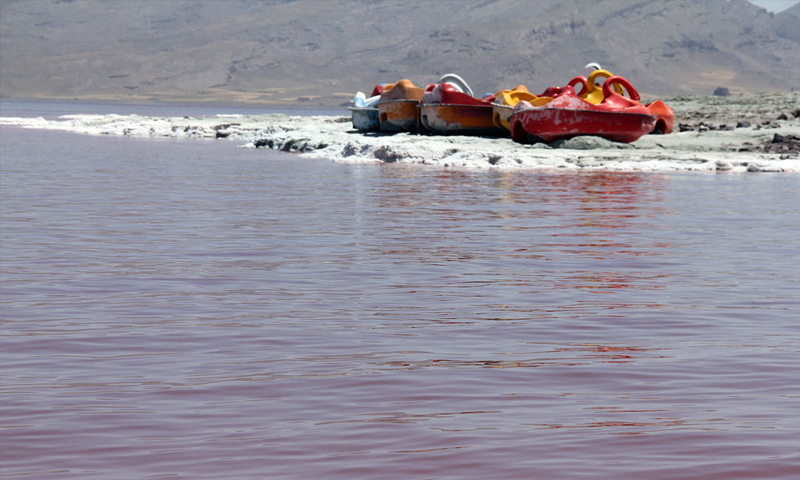 بحيرة أرومية في شمال غرب إيران - (انترنت)
