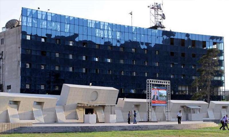 مبنى الإذاعة والتلفزيون في ساحة الأمويين (الوطن)