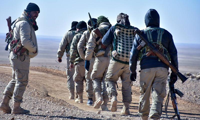 عناصر من قوات قسد في الرقة -6 شباط 2017 (قوات سوريا الديمقراطية)