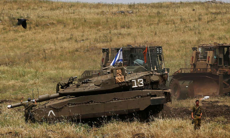 قوات اسرائيلية في الجولان ) روسيا اليوم)