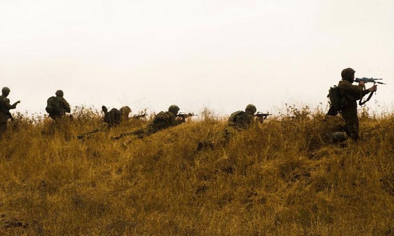 تدريبات عسكرية في الجولان - حزيران 2018 (حساب أفيخاي أدرعي في تويتر)