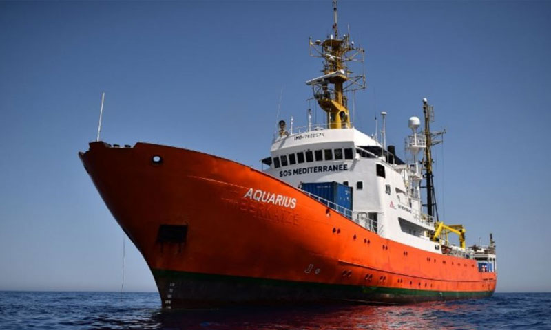 سفينة المهاجرين اكواريوس (AFP)