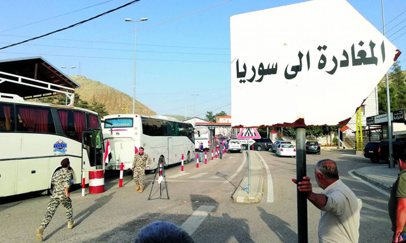 نقطة المصنع الحدودية بين لبنان وسوريا (تصوير: دانييل خياط)