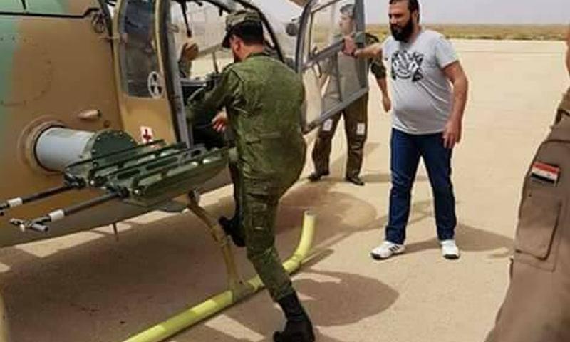 قائد قوات النمر العميد سهيل الحسن في أثناء وصوله إلى محافظة درعا - 18 من حزيران 2018 (قوات النمر)