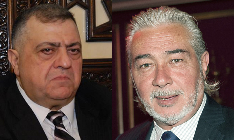 رئيس مجلس الشعب السوري حمودة الصباغ ونائبه نجدت أنزور (تعديل عنب بلدي)