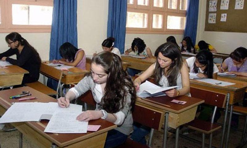 طلاب سوريون يتقدمون لامتحانات الثانوية (سانا)