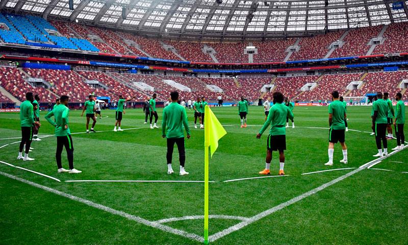 تدريبات المنتخب السعودي في روسيا (independent)