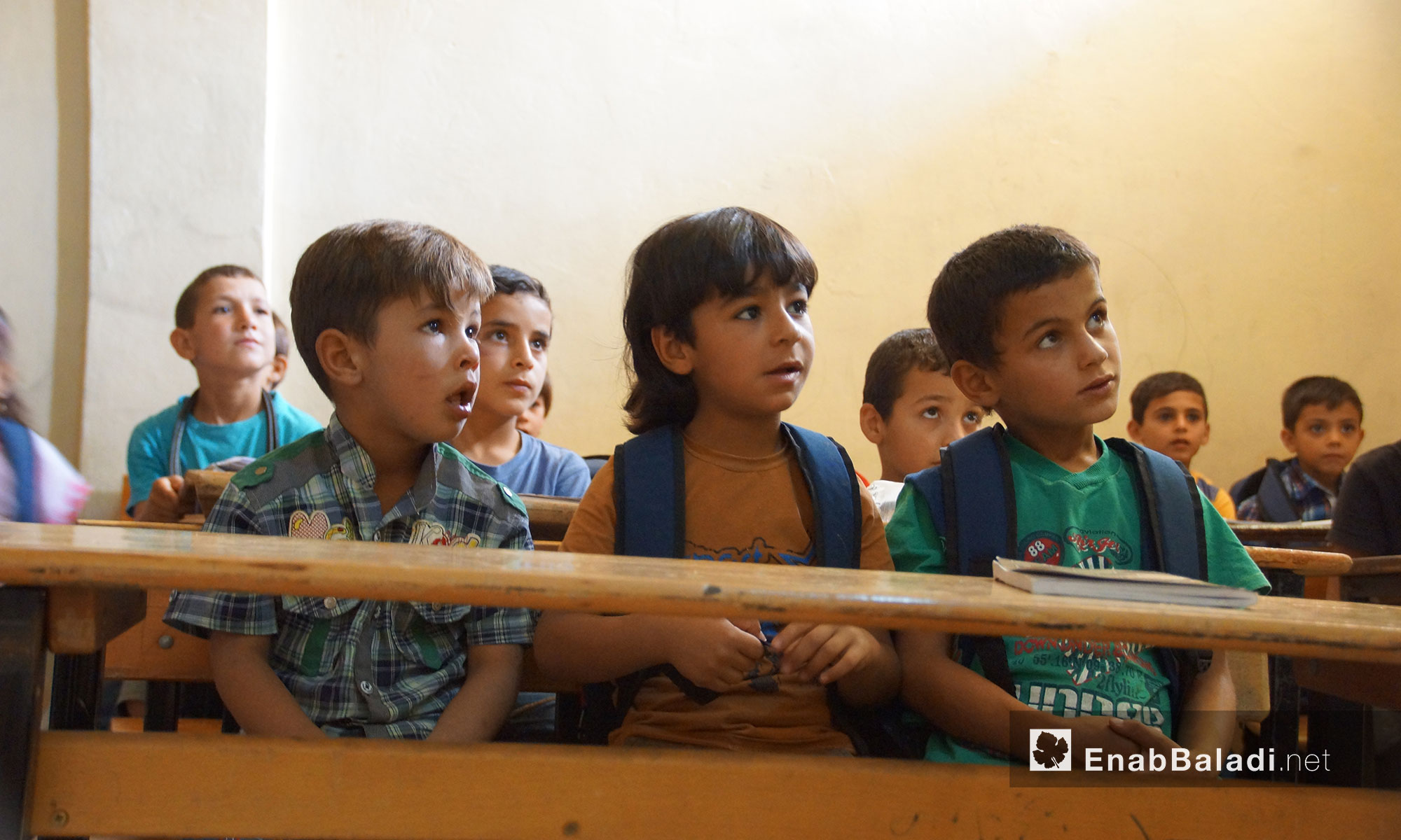 روضة مجانية خاصة  للأطفال الأيتام من حماه وادلب في بلدة كفرسجنة - 25 تموز 2018 (عنب بلدي)