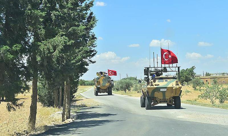 دورية للجيش التركي في محيط منبج - 17 من تموز 2018 (الأناضول)