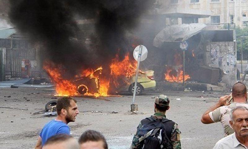 تفجيرات في السويداء 25 تموز 2018 (ناشطين في تويتر)