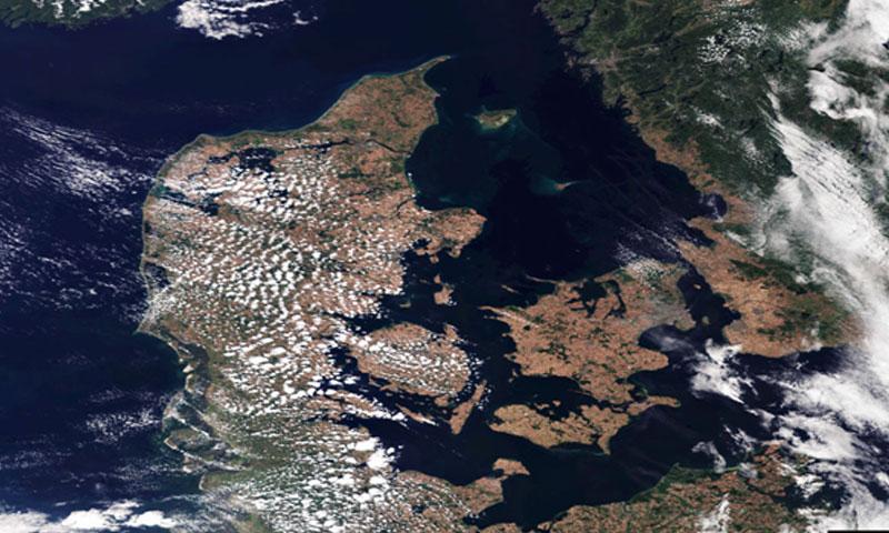 صور للأقمار الصناعية لشمال أوروبا أظهرت مدى تأثير موجة الحر تموز 2018 (Euronews )