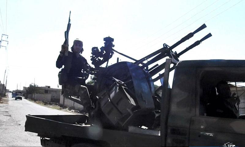 مقاتلي تنظيم الدولة في حوض اليرموك تموز 2018 (أعماق)