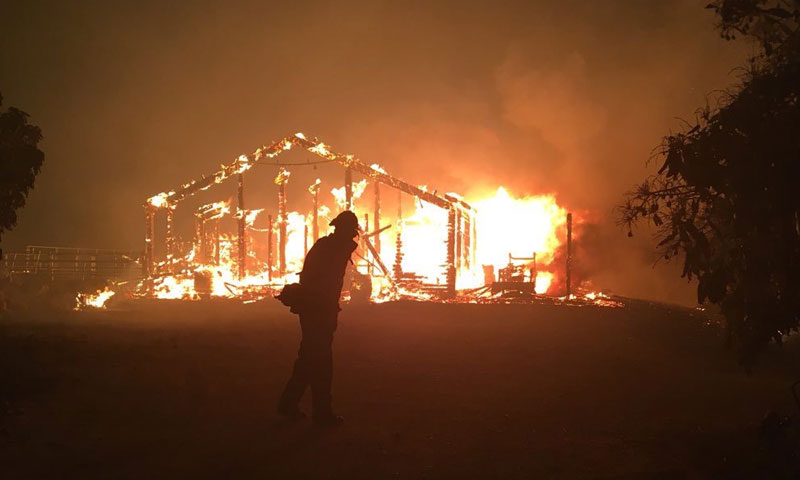 حرائق في كالفورنيا 6 تموز 2018 (كال فاير تويتر)
