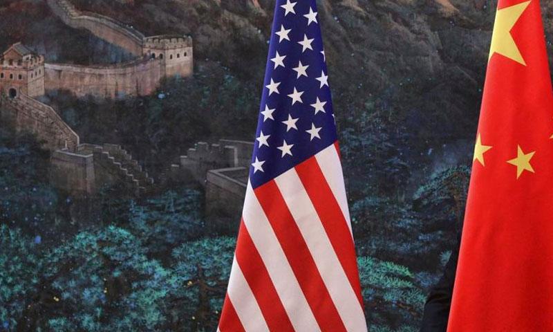 أعلام امركيا والصين (انترنت)