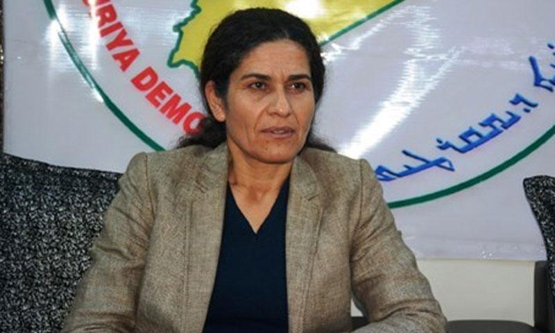 الرئيسة التنفيذية لمجلس سوريا الديمقراطي، إلهام أحمد (مواقع انترنت)